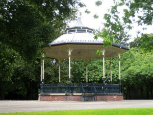 This bandstand used to feature in our Crap Parks gallery but has now been beautifully restored by Lost Art, thanks to Wolverhampton Council and HLF.