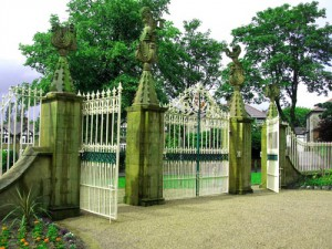 Entrance gates restored, Marsden Park, Nelson