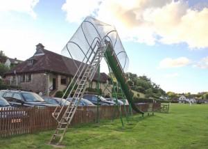 A cagey slide.