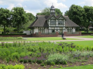 Pride of the Potteries! Burslem Park in Stoke - restored pavilion and new perennial planting designed by Sarah Ashmead on the terrace