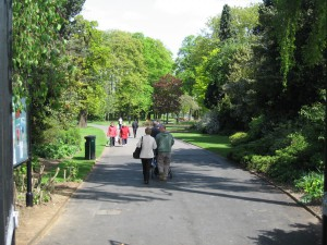 Caldecott Park,Rugby, the new entrance