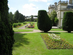 Dyffryn Gardens, Vale of Glamorgan, with the new glasshouse in the background.  Now leased to the National Trust.