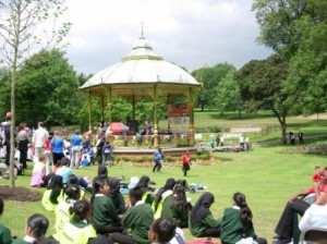 Handsworth Park, grand re-opening 2006. Beautiful photo by Peter Vickers.