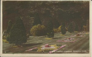 Carpet bedding in Hesketh Park, Southport