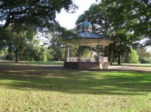 Queens Park, Crewe, the bandstand restored by the wonderful Lost Art..